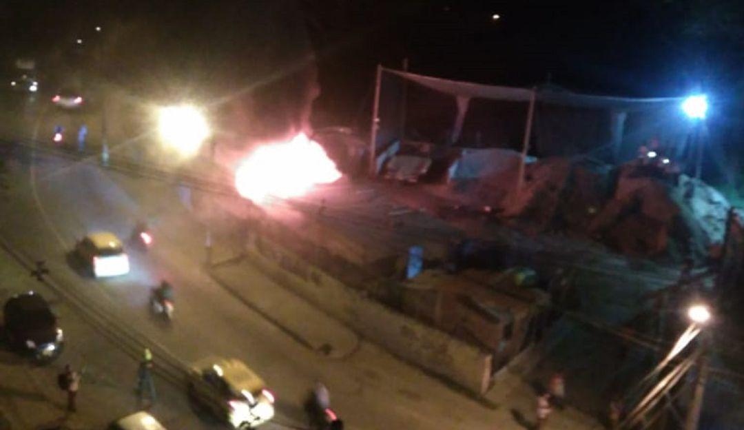 EMERGENCIA INCENDIO ROBLEDO HERIDO EPM: Un incendio en Robledo dejó una persona lesionada