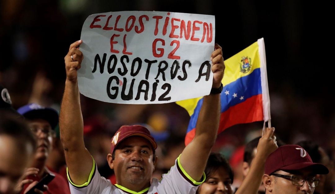 Simpatizantes de Juan Guaidó.