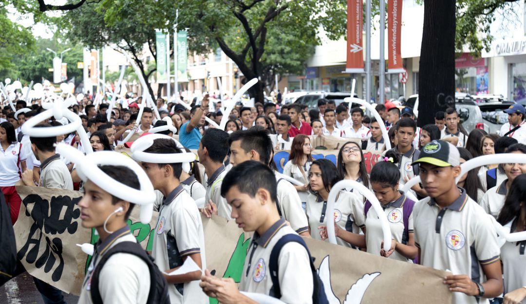 Marcha contra el reclutamiento infantil.