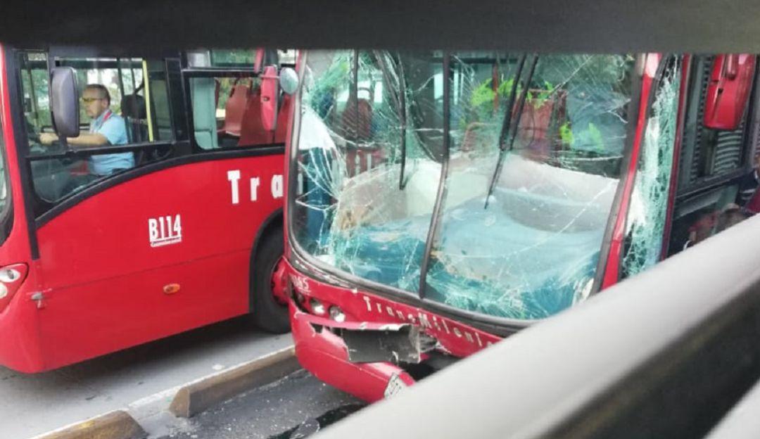 Accidentes de tránsito: Choque entre dos articulados de Transmilenio deja 14 heridos