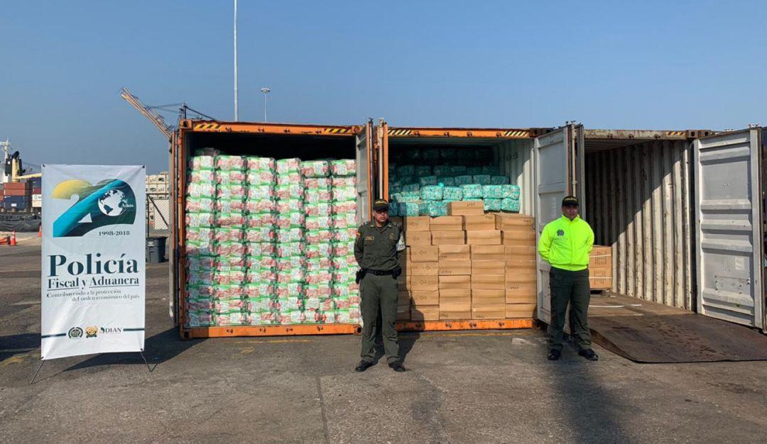 Contenedor con mercancía ilegal de Asia Puerto de Cartagena: Incautan 11 contenedores con mercancía ilegal en el Puerto de Cartagena