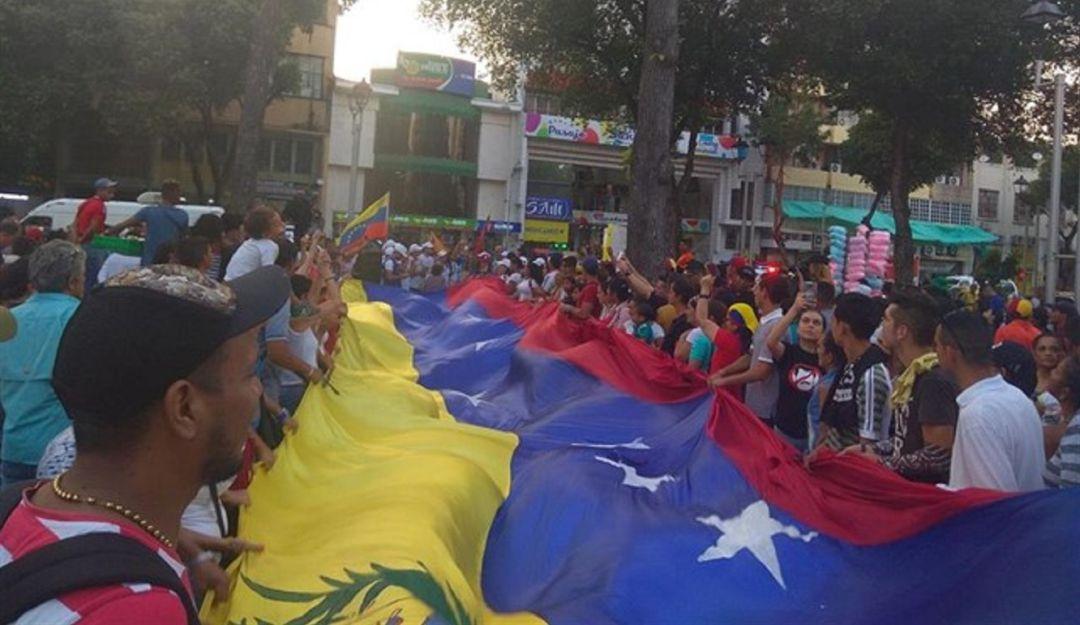 Concentración venezolanos en Cúcuta.
