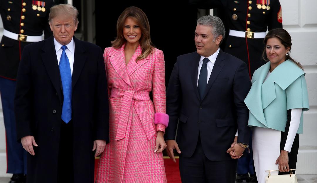 """Donald Trump y Duque: """"Ya verán"""" Trump no descarta enviar tropas a Colombia"""