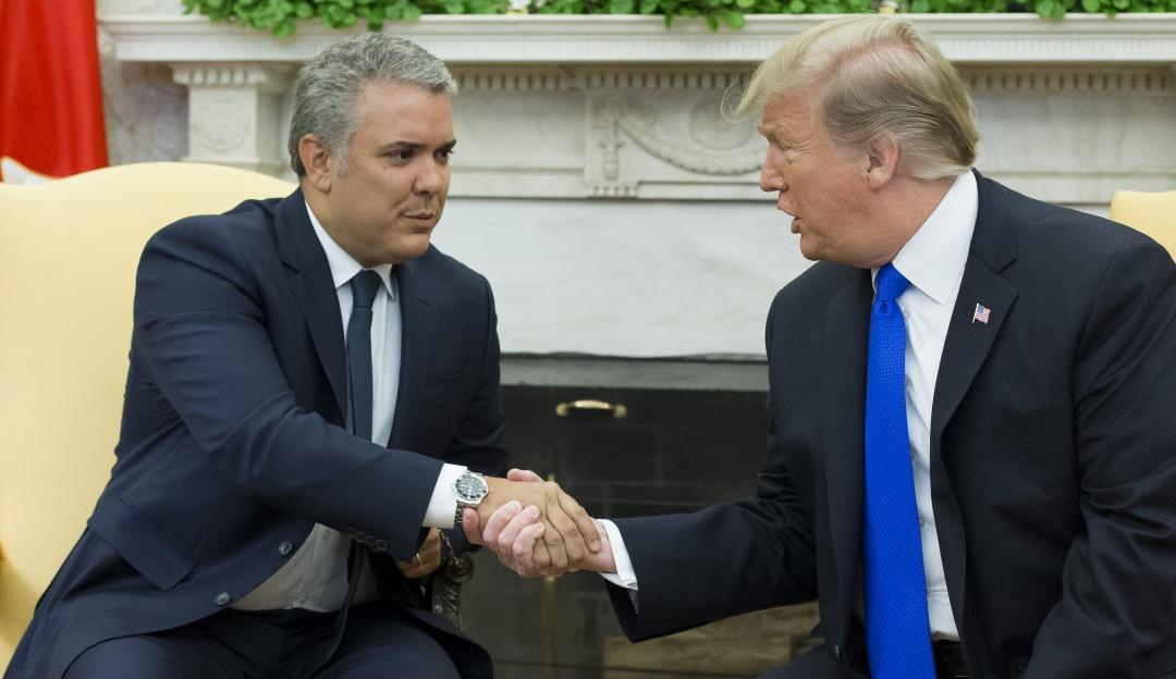 """Encuentro Duque Trump: Duque: """"Compartimos el objetivo de liberar a ese país de la dictadura"""""""