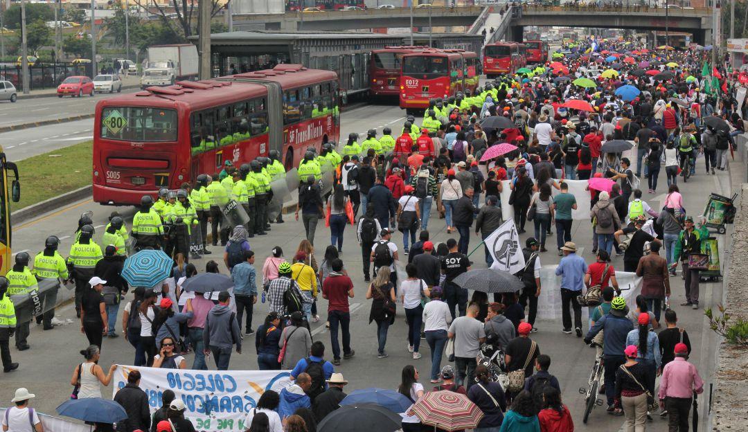 Fecode: Conozca las rutas de las marchas de maestros en las ciudades