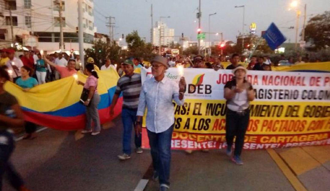 Paro Nacional Fecode Cartagena servicios de salud: 12 mil maestros saldrán a las calles este jueves en Cartagena y Bolívar