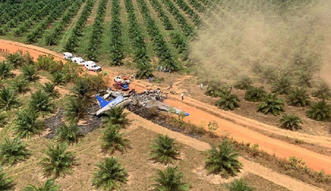 Cayó un avión en Colombia y murieron 12 personas