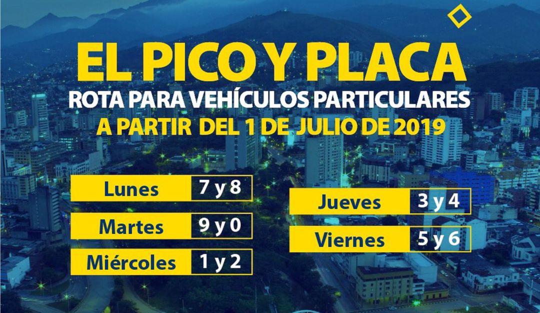 Pico y placa hoy 2019