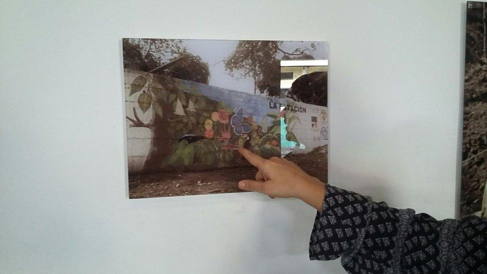 Los murales con paisajes reflejan los sueños de los ex combatientes