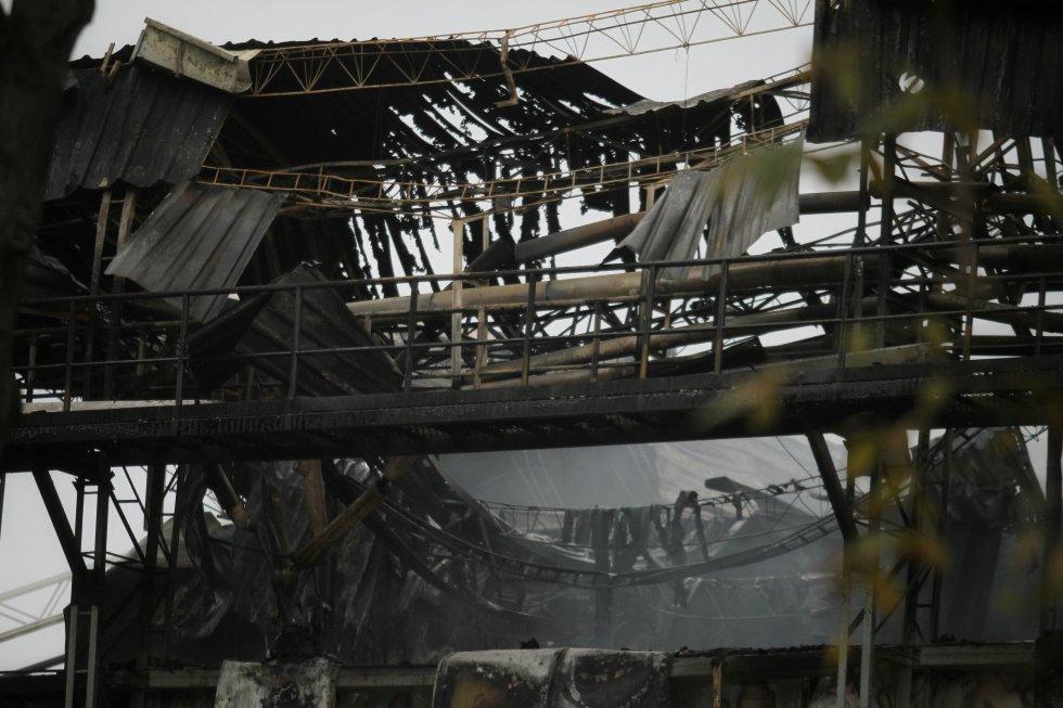 El incendio se registró en la localidad de Fontibón