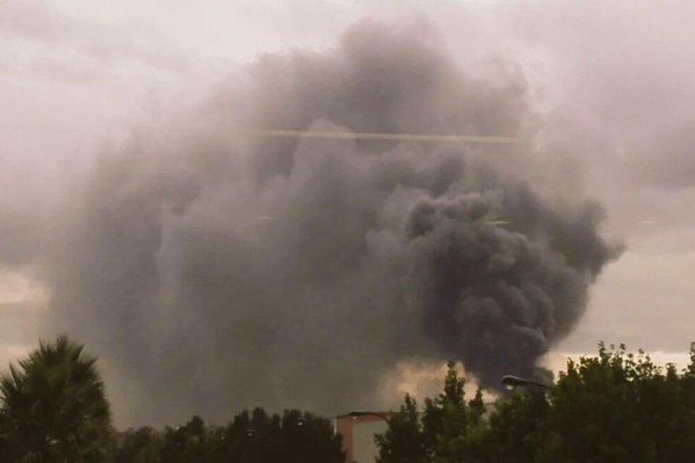 Una nube de humo cubrió el sector