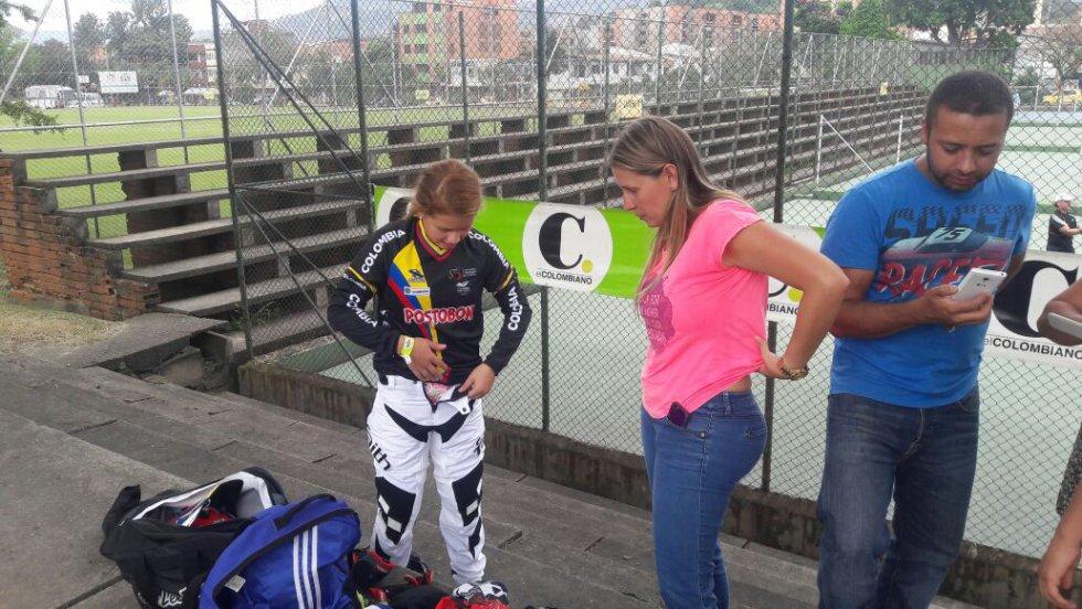 Preperandose para las pruebas en Medellín