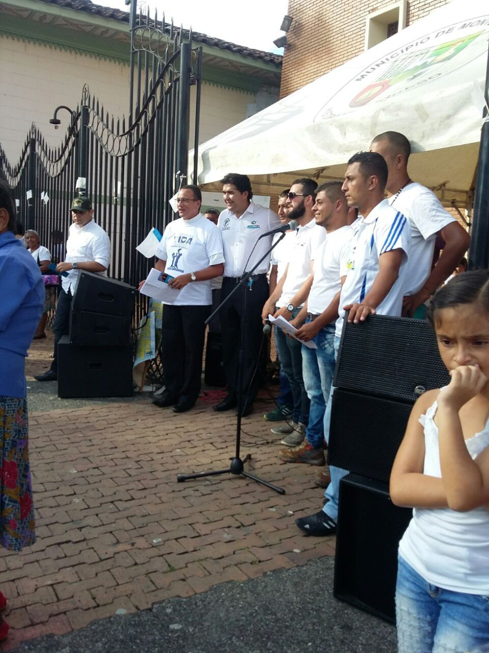 En el municipio de Montenegro como en las demás localidades también marcharon
