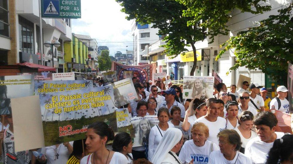 Las calles de los municipios del Quindío fueron testigos de la marcha por la vida