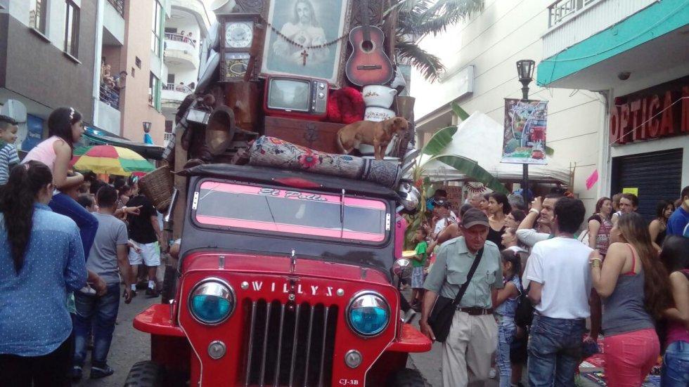 El yipao es el carro emblemático del pueblo cafetero