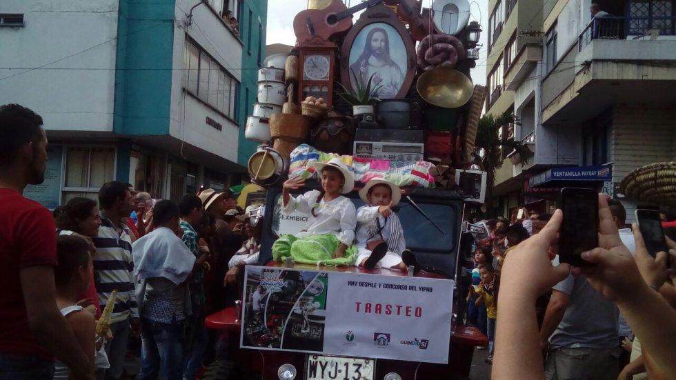 El sagrado corazón también hizo parte del desfile.