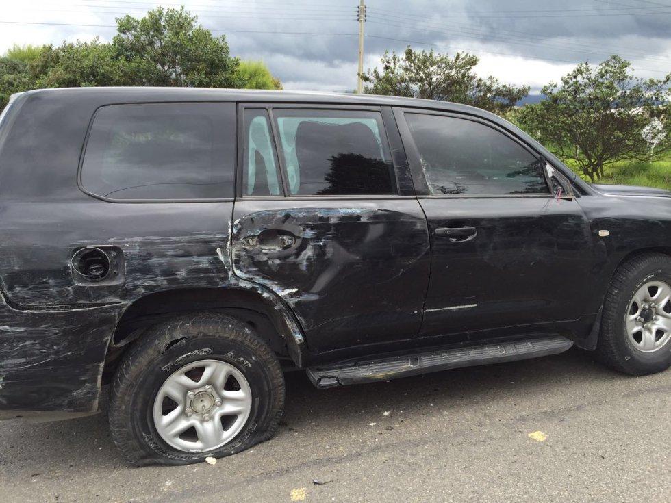 """""""Hay versiones serias que indican que pudo haber tenido relación con actos vandálicos, aparentemente relacionados con la cruzada camionera. Hasta tanto no se verifiquen los detalles, se ha tomado la decisión de suspender las negociaciones"""", dijo."""