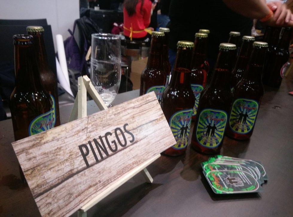 Pingos, una de las cervezas que llegó a Bogotá desde las regiones para dar a conocer su sabor.