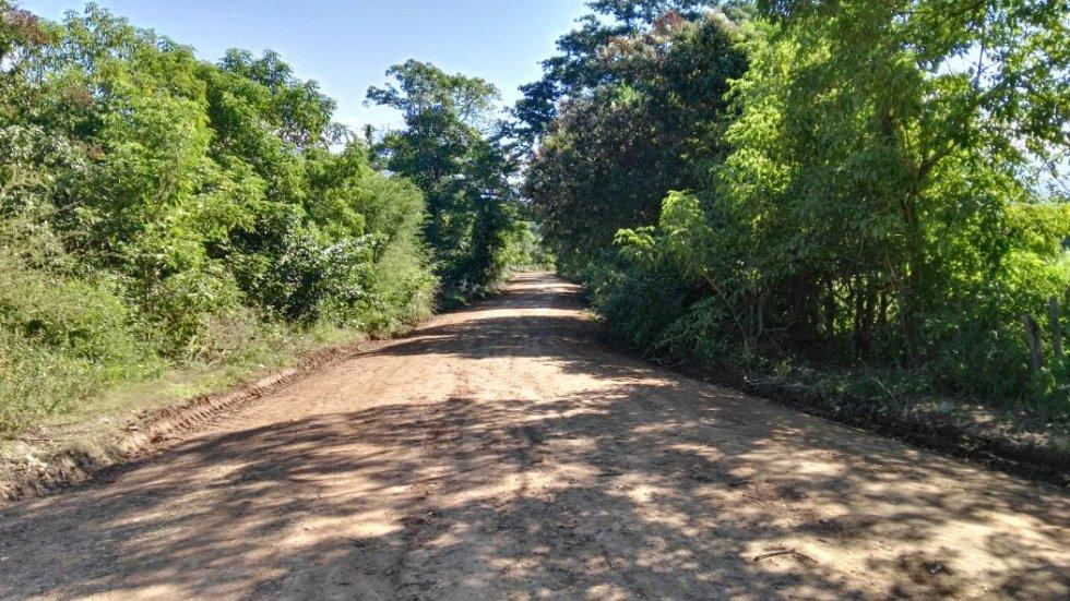 El camino ya fue adecuado por el Ejército Nacional, es transitable y no hay problemas con los vehículos para llegar al lugar