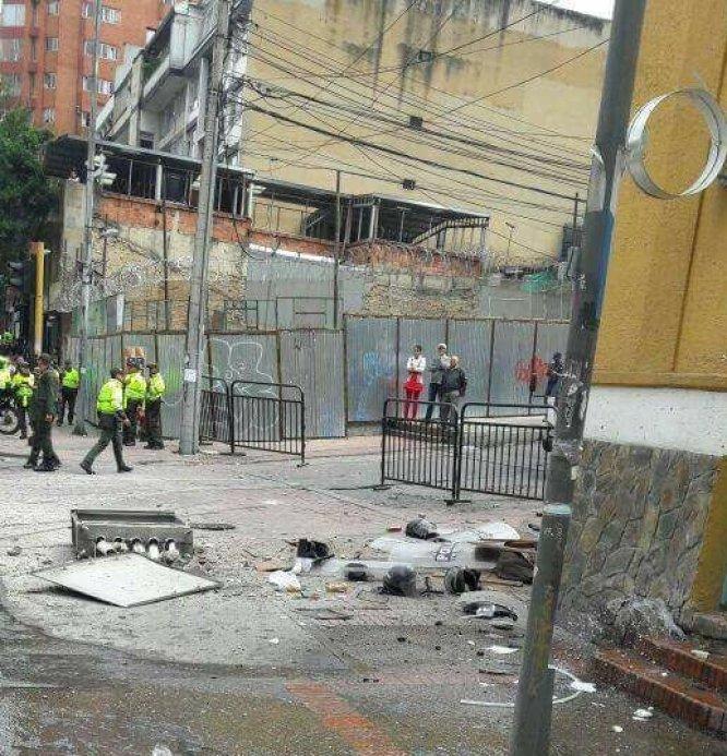 Varios heridos y destrozos se produjeron tras la explosión cerca de la Plaza de Toros.