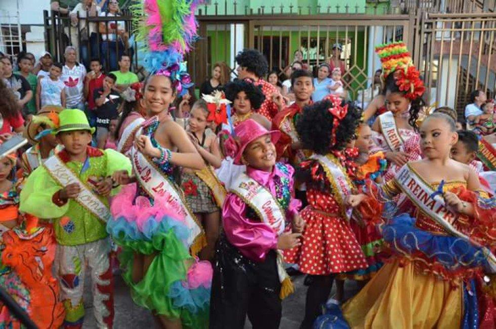 Los principales personajes del carnaval fueron personificados por los más pequeños de Barranquilla.