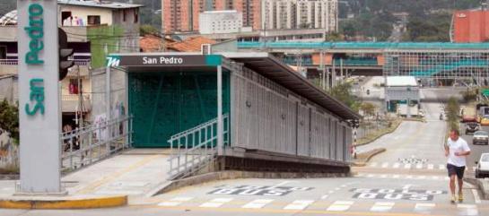 Estación San Pedro del Metroplús (Comuna Manrique) FOTO: COLPRENSA