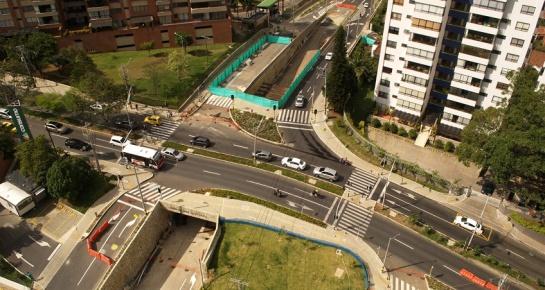 Vías por valorización en el Poblado: Transversal inferior con los Balsos. FOTO: Fondo de Valorización de Medellín