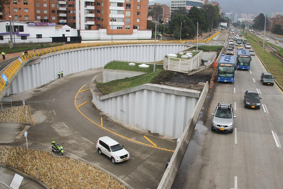 Comenzó a operar el paso deprimido de la calle 94 con Avenida NQS en el norte de Bogotá.