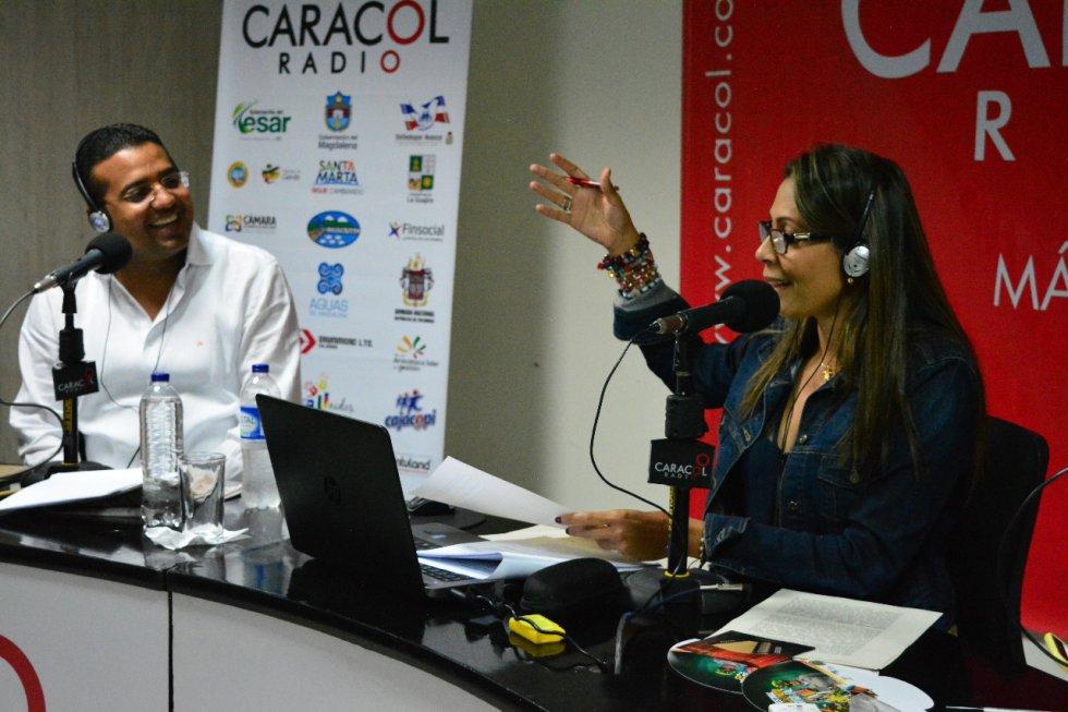 Augusto Ramírez, alcalde de Valledupar y Érika Fontalvo.