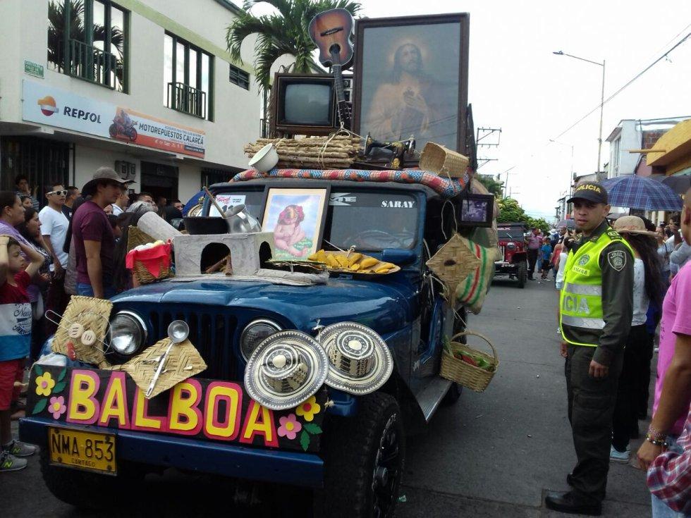Del municipio de Balboa, Risaralda participaron también en este desfile