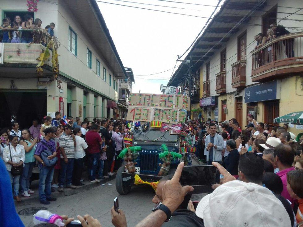 El material reciclaje fue utilizado en el carnaval de la libertad