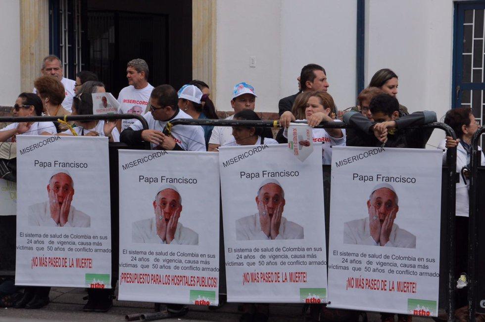 Así se espera al Papa Francisco en Teusaquillo