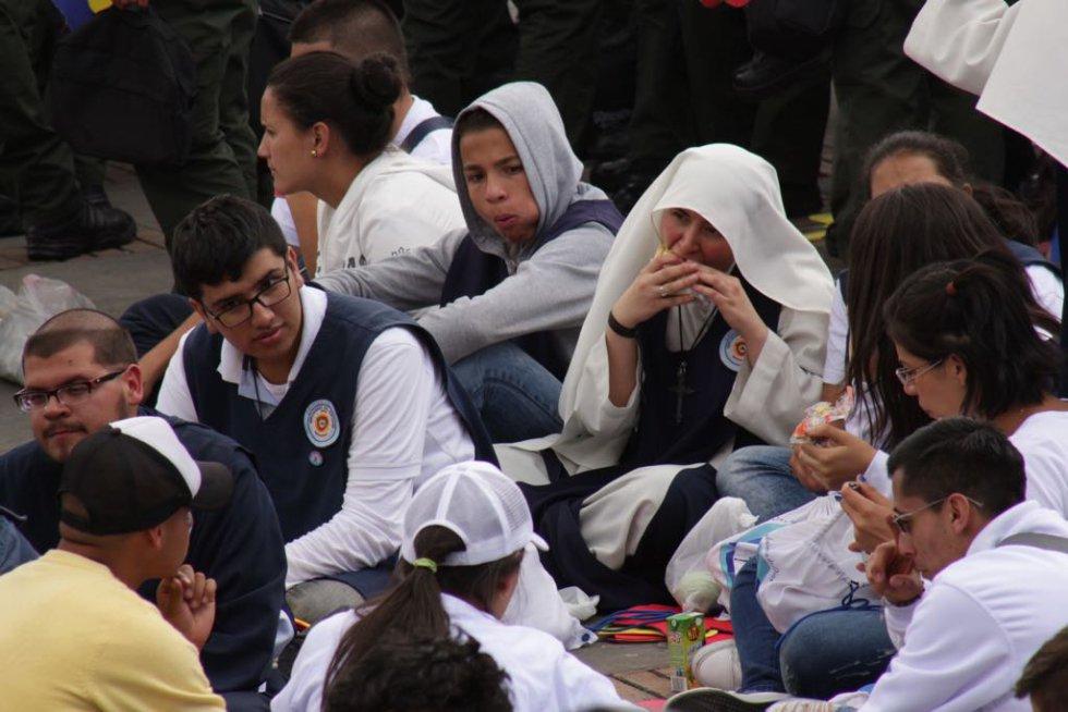 Los estudiantes también asistieron al evento.