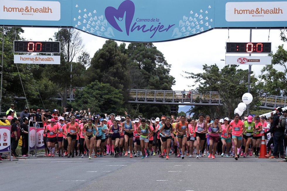 Desde el 2007 se realiza la carrera por la mujer en Bogotá. Cinco veces se ha llevado el titulo corredoras colombianas y esta ocasión o fue la excepción.