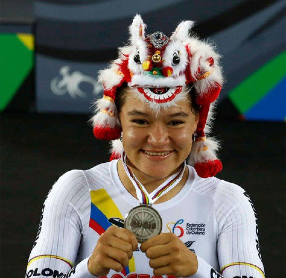 La hija de una familia humilde de la comuna 9 de Bucaramanga fue una de las colombianas que obtuvo más medallas en los Juegos Bolivarianos 2017. Acompañó a la campeona mundial Mariana Pajón, en la conquista de la primera presea fuera de las pistas de bicicross.