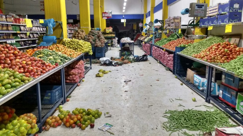 Así quedó Merkandrea tras los saqueos en el sur de Bogotá