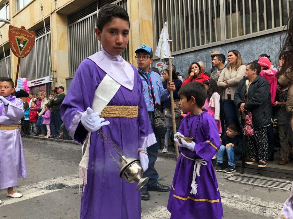 En fotos: la tierna procesión de niños del jueves Santo en Tunja, Boyacá: Así fue la tierna procesión de niños del jueves Santo en Tunja, Boyacá