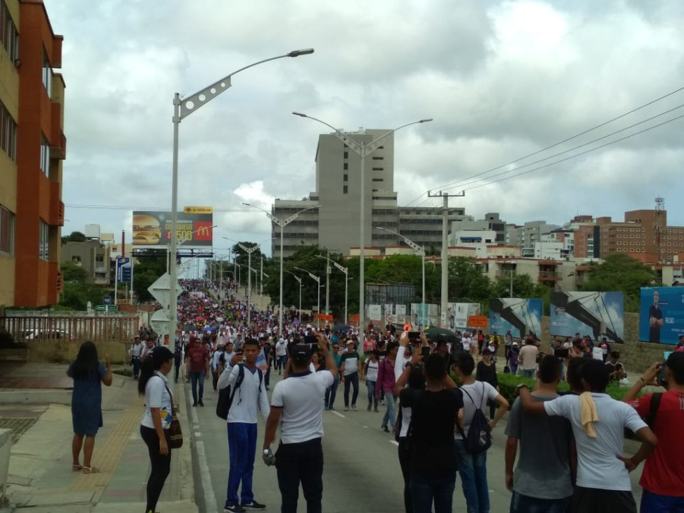 La manifestación provocó congestión vehícular en el norte de Barranquilla