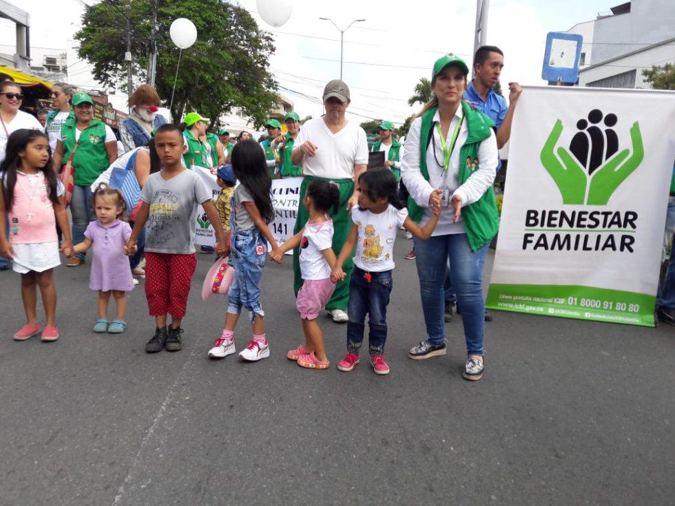 El Instituto Colombiano de Bienestar Familiar hizo presencia en la actividad
