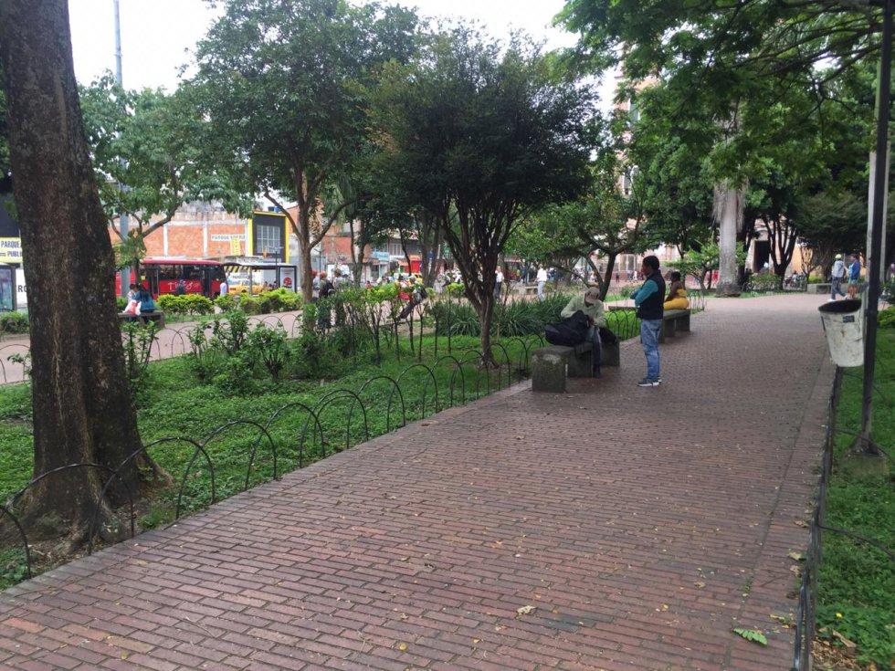 Así luce la plazoleta de la quindianidad en pleno centro de Armenia