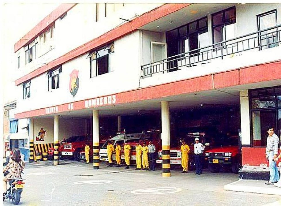 Sede de bomberos ubicada en el sector del Bosque