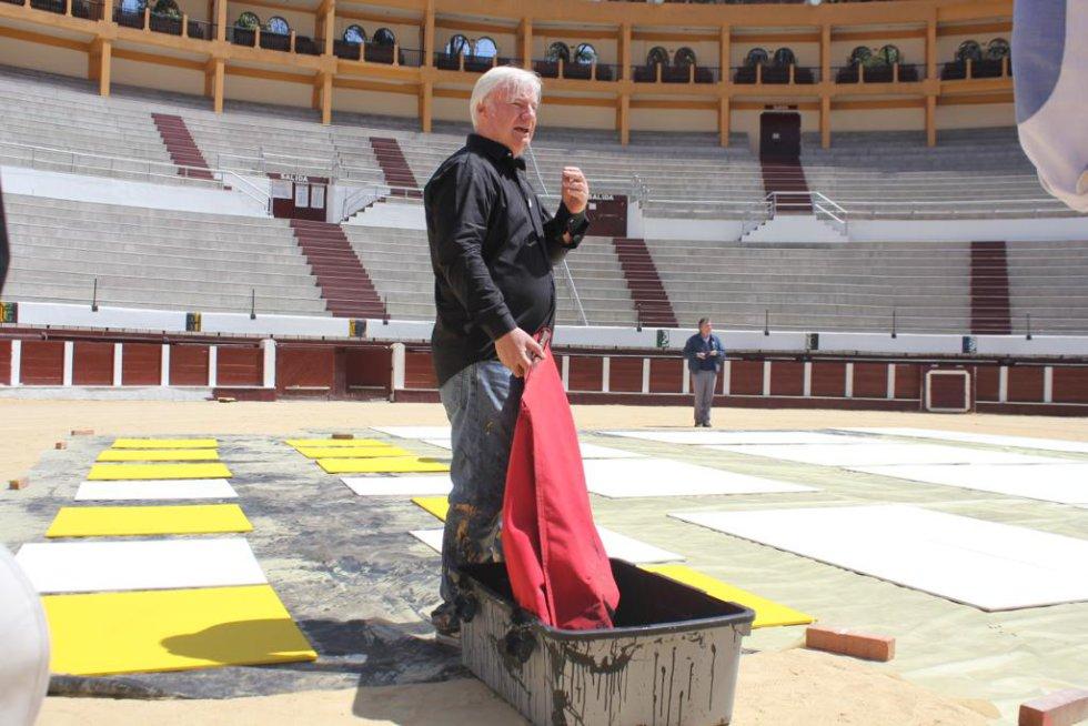 Loren Pallatier, el artista francés que pintará el ruedo de la Santamaría