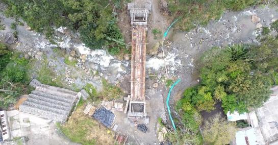 Puente de Laureles: Avanzan obras en el puente de Laureles en Ibagué