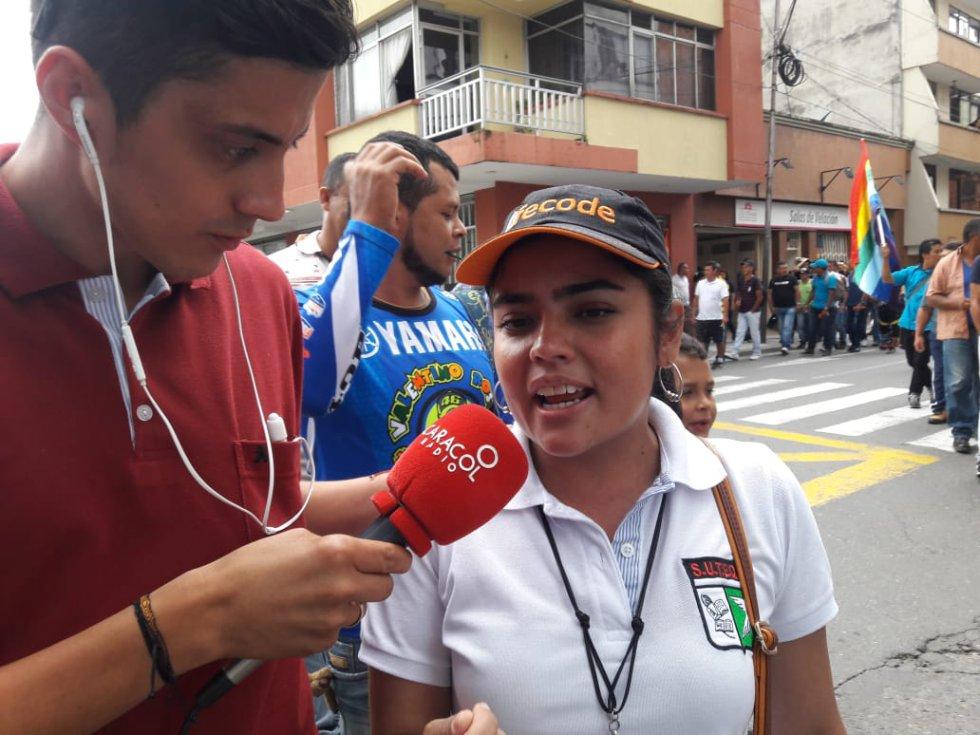 Luisa Ospina lider docente del Quindío integrante del Suteq