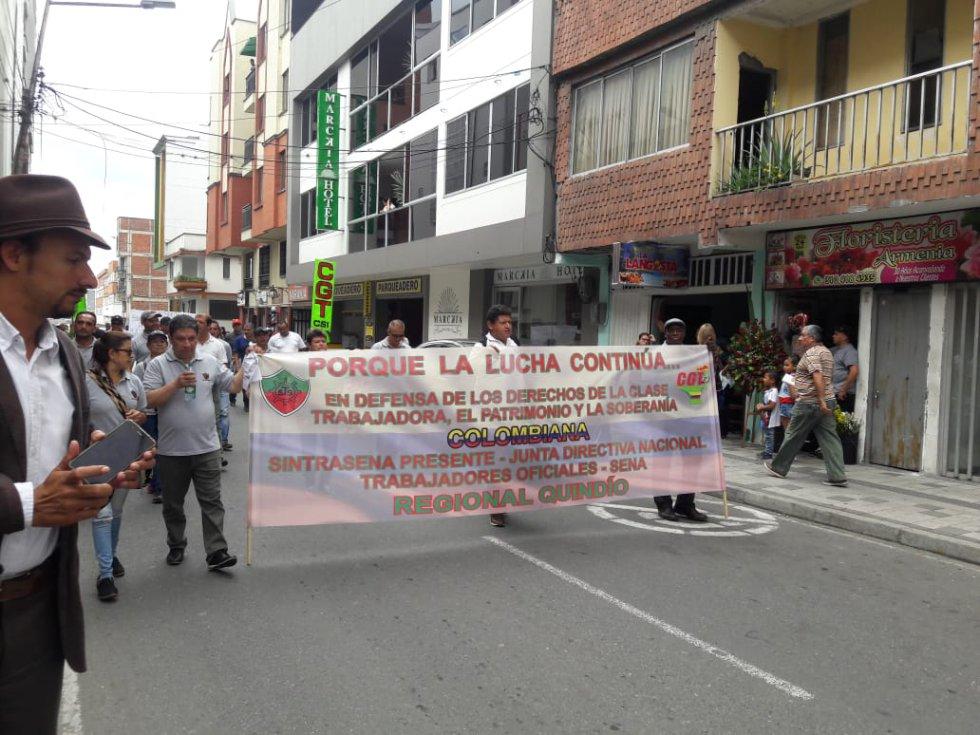 Trabajadores del Sena, regional Quindío
