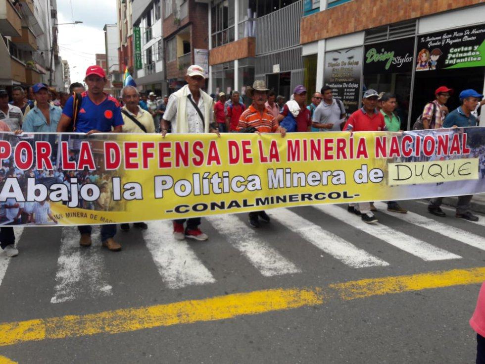 Mineros del Quindío también marcharon
