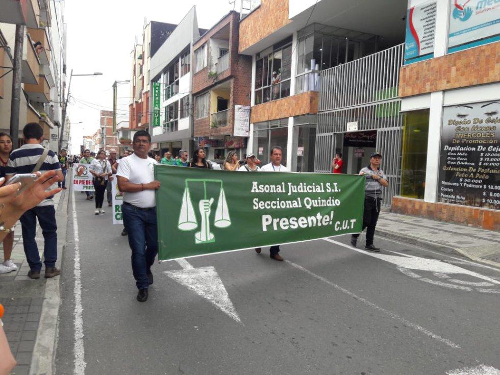 La rama judicial se sumo a la jornada nacional de protesta