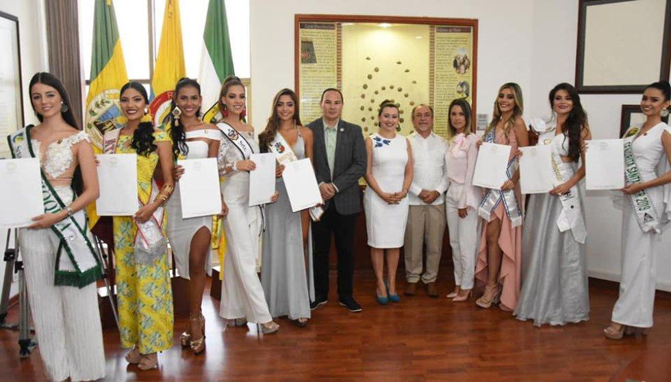 Las candidatas al reinado nacional del café fueron declaradas huéspedes de honor del Quindío