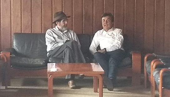 Óscar Gutiérrez, director de Dignidad Agropecuaria y Roberto Vélez, gerente general de la Federación Nacional de Cafeteros