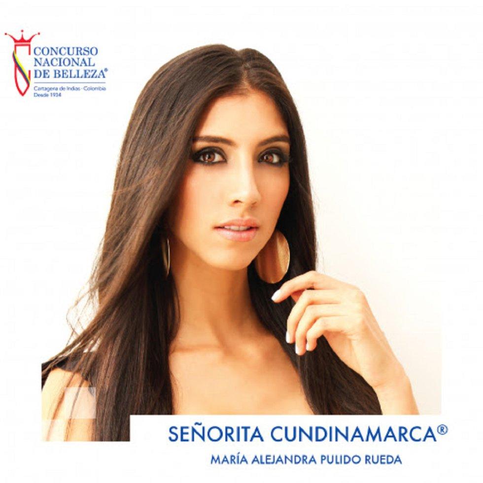 Señorita Cundinamarca® 2019-2020 María Alejandra Pulido Rueda, nació en Santa Marta el 21 de octubre de 1996. Tiene 22 años.Es profesional en Relaciones Internacionales y Estudios Políticos de la Universidad Militar Nueva Granada. Como segundo idioma domina el inglés.